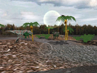 Click to view Dino Meadow Screensaver 1.0 screenshot